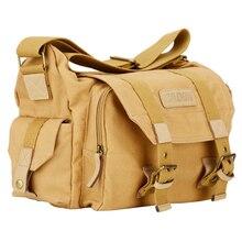 Kamera omuz çantaları Sling DSLR fotoğraf Video yumuşak sırt çantası durumda seyahat kamera koruyucu kılıflar Canon Nikon Sony Pentax için f1