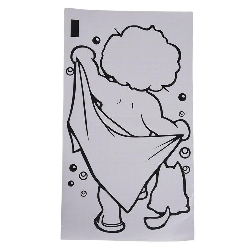 Us 164 31 Offlovely Kid Boy Bath Shower Sticker Bathroom Toilet Wall Vinyl Home Art Decal Diy On Aliexpress