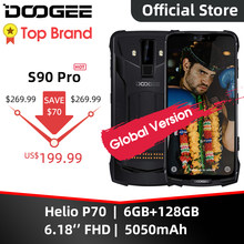 Ip68 doogee s90 pro modular áspero telefone móvel helio p70 octa núcleo 6gb 128gb 6.18 polegada display 12v2a 5050mah 16mp + 8mp android 9(China)
