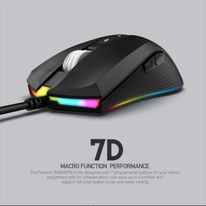 Image 2 - FANTECH X14S Optical Adjustable 4000DPI 7D Macro Professional Wired Gaming Mouse For Mouse Gamer Essential Ergonomic Mouse