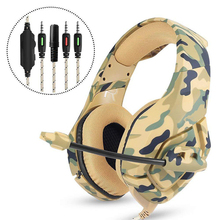3.5mm Gaming  Jedi survival Wired Headphone Stereo Bass Surround for PS4 PC earphone Electronic Camouflage Sports Music Headset