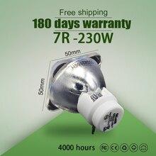 ขายร้อน 7R 230WโลหะHalideโคมไฟMoving Beam 230 Beam 230 SIRIUS HRI230W Beam 7r 230Wหลอดไฟ