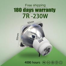 Hot sprzedaży 7R 230W lampa metalohalogenkowa ruchoma belka lampa 230 belki 230 SIRIUS HRI230W wiązka 7r 230w żarówka