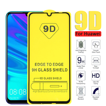 25 Pcs/Lot 9D Curved Full Glue Tempered Glass For Huawei Honor 8X 10 9 P20 Pro Mate 20 P30 P40 Lite Screen Protector
