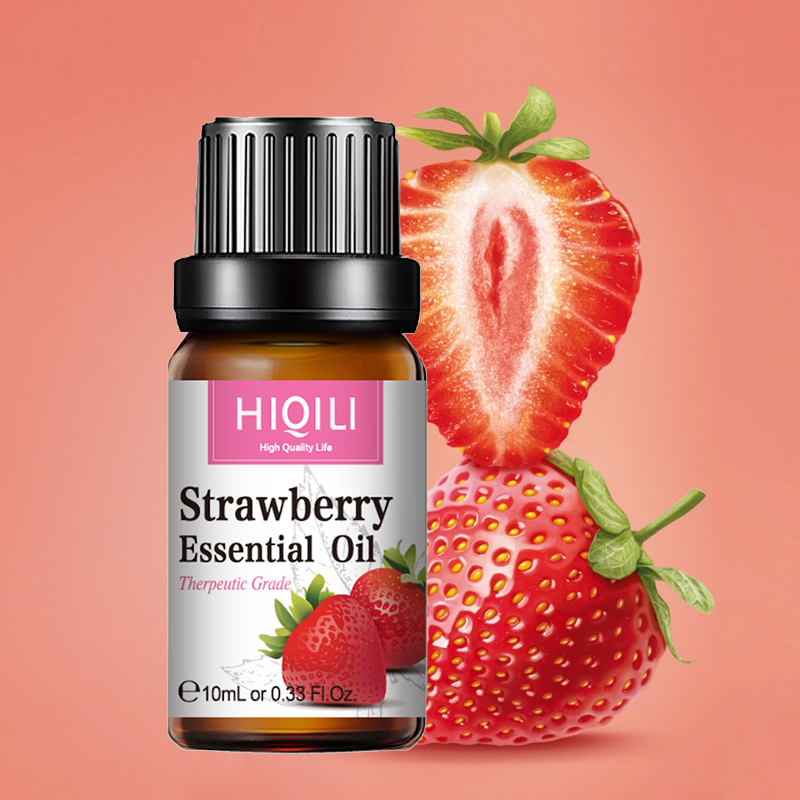 HIQILI Strawberry Fragrance Oil 10ML Diffuser Aroma Essential Oil Coconut Apple Mango Watermelon Cherry Lemon Orange For Soap