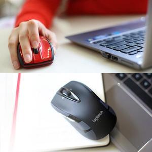 Image 2 - ロジクール M545/M546 2.4 2.4ghz ワイヤレスレーザーマウス人間工学ゲーム 1000 dpimice ノートパソコンのデスクトップ pc