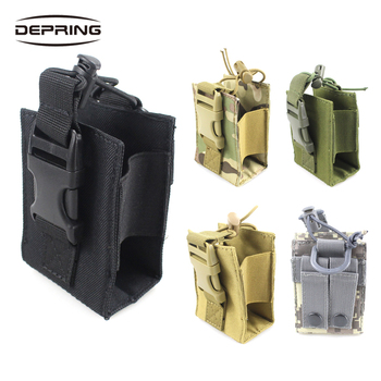 цена на Outdoor Package Pouch Tactical Military Molle Nylon Radio Walkie Talkie Holder Bag Magazine Mag Pouch Pocket
