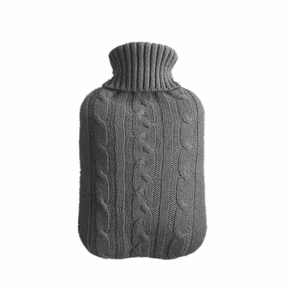 GEMSeven Kreative Silikon Mikrowelle Heizung Warmwasserbeutel Tragbare Winter Warme Wasserflasche Tasche Handw/ärmer Mit Strick Abdeckung Geschenk Box