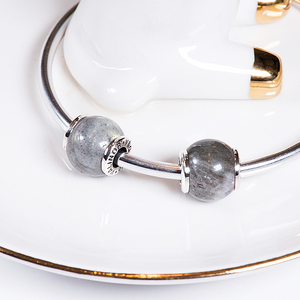 Image 4 - Moonstone 925 Sterling Silver beads charms fit Bracelets & Bangles TRBS005