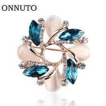 Alta qualidade flor broche estilo coreano bauhinia flor corsage cristal strass broche pino presente jóias ornamento acessórios