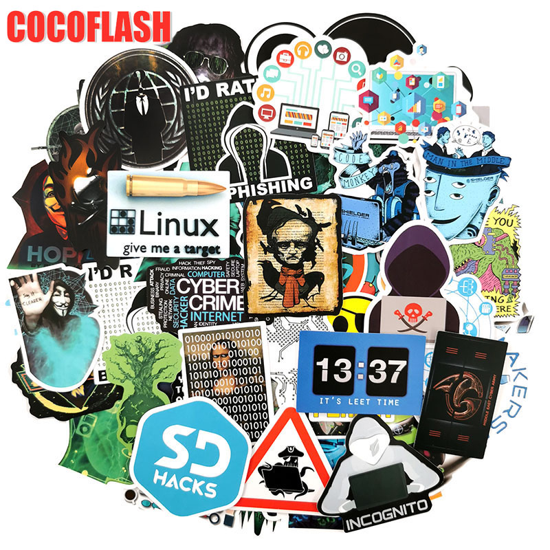 10/98 Pcs/set Hackers Internet Programming Java JS Php Html Cloud Docker Bitcoin Language Stickers For Laptop Car Phone Stickers image