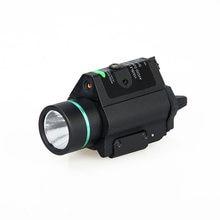 Tactical led lanterna verde/vermelho laser vista para 20mm ferroviário mini glock pistola luz lanterna airsoft luz