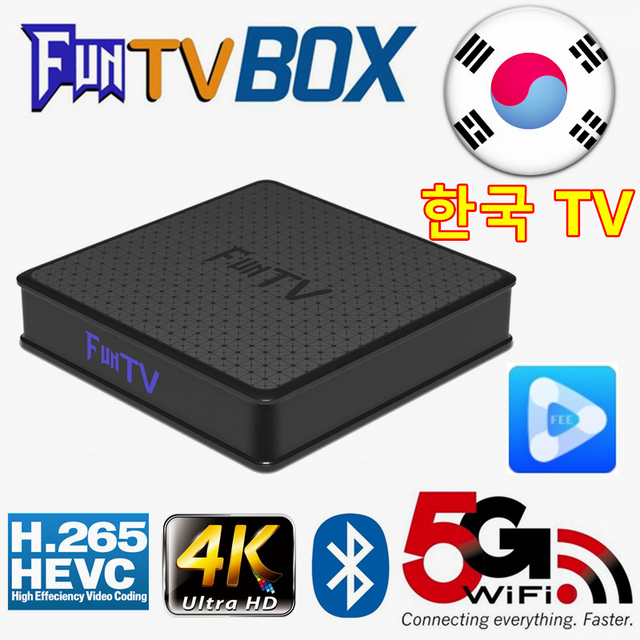 Coréen Tvpad4 evpad pro UBOX corée TV BOX films intégré WIFI Android TV Box feetv coréen TV HD Box