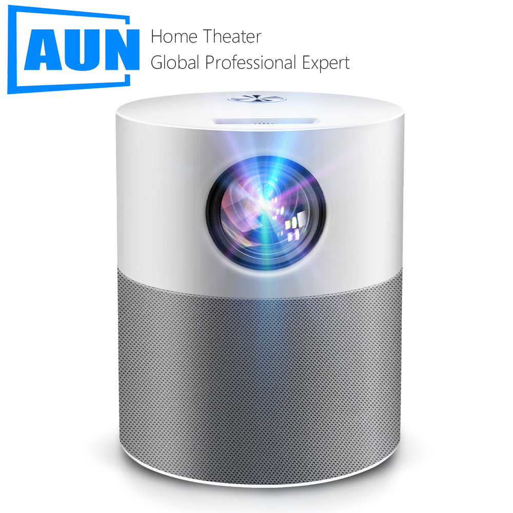 AUN Projector Full HD 1080p ET40 Android 9 Beamer LED Mini Projector 4k Decoding Video Projector for Home Theater Cinema Mobile