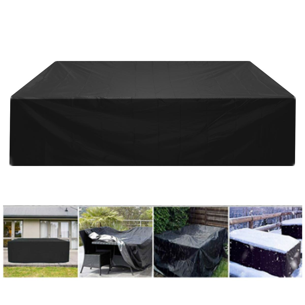 Patio Furniture Covers Waterproof Table Chair Cover Anti Dust Rain UV Polyester Adjustable Elastic Drawstring Protective Case