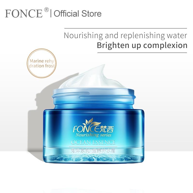Fonce Women Moisturizing Day Cream Face Serum Hyaluronic acid Nicotinamide Pomegranate seeds Plant Care Essence Korea Brand