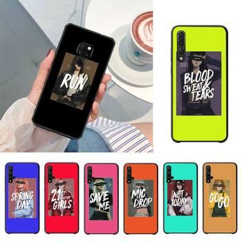 YNDFCNB pepakomi Bts funda de teléfono móvil negra perfecta para Huawei P20 P30 P10 lite P20Pro PSmart Y7 Y6 Prime Mate20 Nova3E