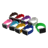Esporte led relógios rosa moda feminina relógio de pulso quadrado casal presente silicone marca de luxo silicone led binary watch 3