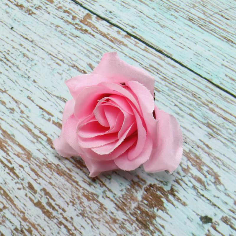 1 Pcs Buatan Bunga Buatan Mawar Bunga Dekorasi Pernikahan Mawar Kain Bunga Head Pernikahan Home Pesta Dekorasi 2020 Baru