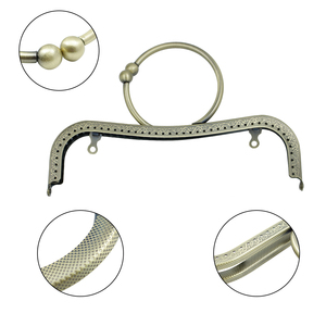 Image 3 - HAOFA 4pcs 22cm Bag Accessories Fashion Concave Waist Embossed O shaped Handle  Bracelet Square Clasp  Bags Purse Frame