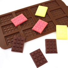 Silicone Mold 12 Even Chocolate Mold Fondant Molds DIY Candy Bar Mould Cake Decoration Tools Kitchen Baking Accessories cheap Moulds CE EU Eco-Friendly