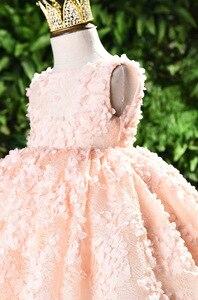 Image 5 - ちょう結び赤ちゃんのプリンセスドレス花レースのチュチュ子供のため bridemaid ドレス結婚式パーティーウエディングドレス