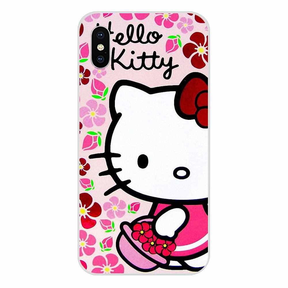 Powrót przypadki ochronne kocham dzień dobry Kittys dla Xiao mi mi 3 mi 4 mi 4C mi 4i mi 5 mi 5S 5X6 6X8 SE Pro Lite A1 Max mi x 2 uwaga 3 4