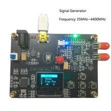 Gerador de frequência da varredura do módulo do gerador adf4351 do sinal de 35mhz-4400mhz rf pll com display oled