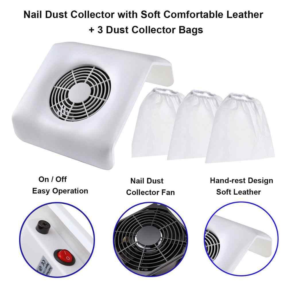 """פרו נייל אבק אספן מכונת 23W יניקה שואב אבק עם 3 אבק אספן שקיות מניקור לאיסוף נקי 2700 סל""""ד"""