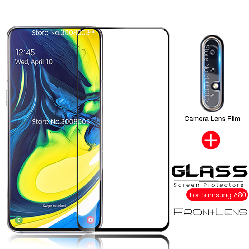 2-in-1 Camera Glass For Samsung Galaxy A80 2019 Armor Protective Glasses Sansung A 80 Sm-a805f/ds Global 6.7'' Phone Sceen Film