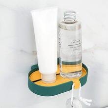 Съемная коробка для хранения мыла настенная полка без дырочек