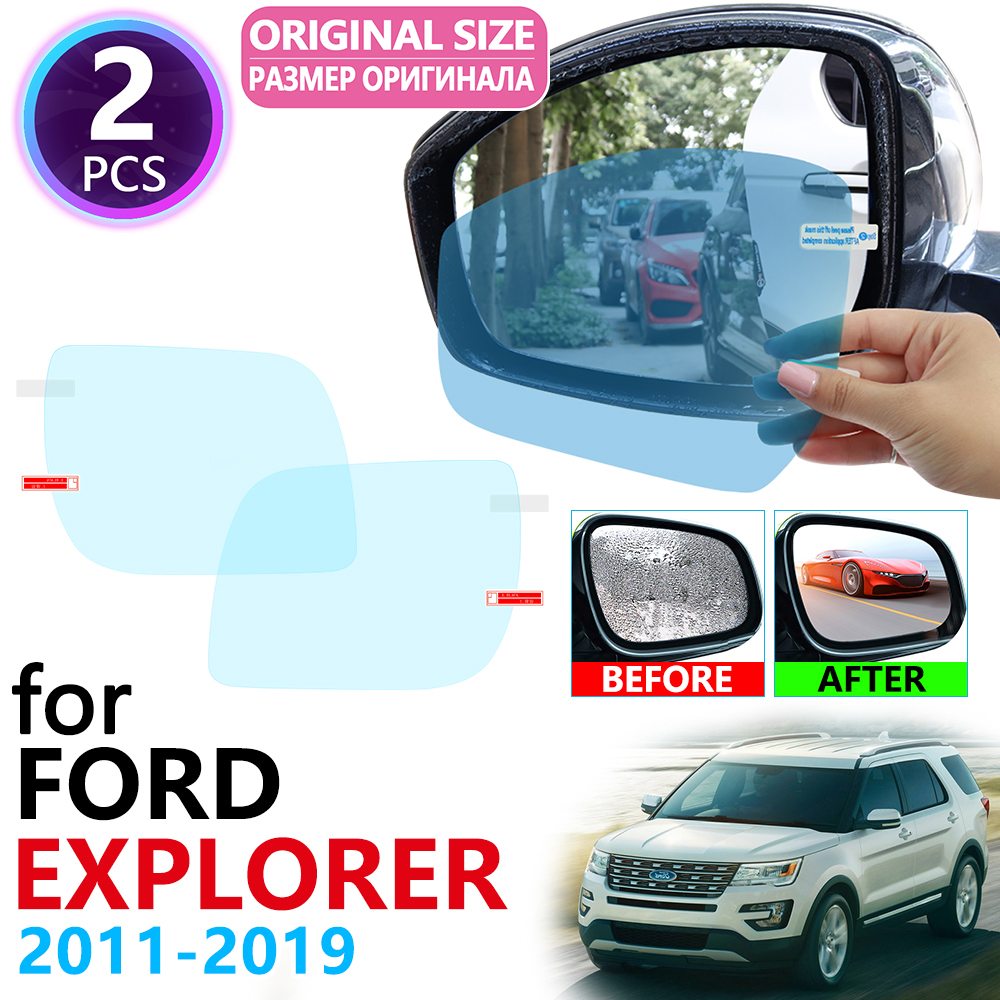 <font><b>for</b></font> <font><b>Ford</b></font> <font><b>Explorer</b></font> U502 MK5 2011~2019 Full Cover Rearview <font><b>Mirror</b></font> Anti-fog Films Rainproof Anti Fog Film <font><b>Accessories</b></font> 2014 2016 image