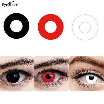 EYESHARE 1 Pair Halloween 365 Day Coloured Contact Lenses Pure Color Cosplay Contact Lens For Eyes