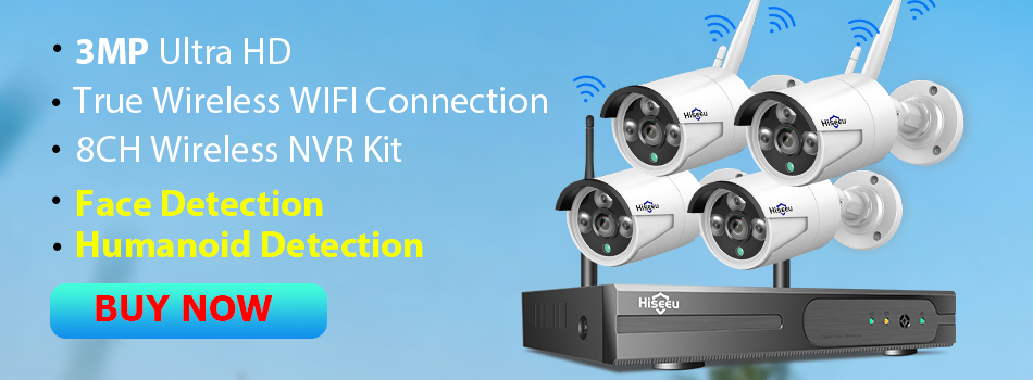 Hiseeu 3MP Wireless CCTV System