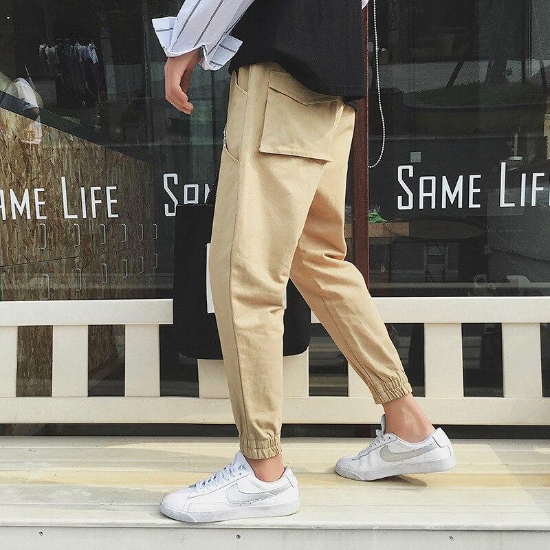 Autumn New Style Casual Pants Men Korean-style Trend Skinny Pants Youth Loose-Fit MEN'S Ninth Pants Beam Feet Long Pants Fashion