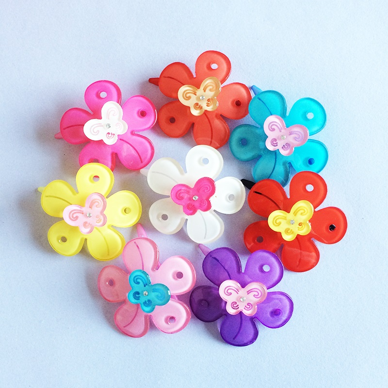 1 Pcs/lot Charming Girls Butterfly Rhinestone Flower Hair Clips Childrens Accessory Hairpins Barrettes