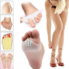 1Pair Silicone Honeycomb Forefoot Pad Foot Versatile Use Reusable Pain Relief Insoles Care Health Care Foot Pad(China)
