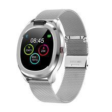 T01 relógio inteligente das mulheres dos homens de fitness pulseira monitor de freqüência cardíaca smartwatch tempo medição temperatura do corpo