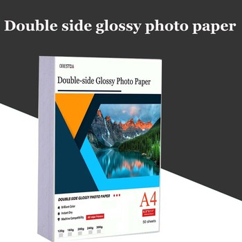 High quality 50 A4 Sheets double sided High Glossy Photo gloss For Inkjet Printer Photo white card Paper Coated paper стойка для акустики elac stand ls 50 high gloss white