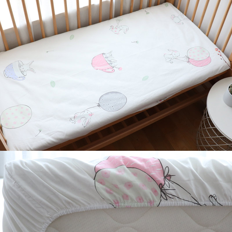 Pure Cotton Baby Crib Sheet For Newborns Children Fitted Sheet Kid Cot Mattress Cover Protector For 130x70cm Allow Custom Size