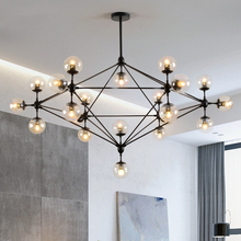 Nordic LED Chandelier Lighting Glass Chandeliers For Living room Bedroom Kitchen Lamp Modern Pendant Chandelier Lamp deco Lustre modern led chandelier lighting transparent glass bubble ball chandeliers for living room lustre de cristal lustre para sala lamp
