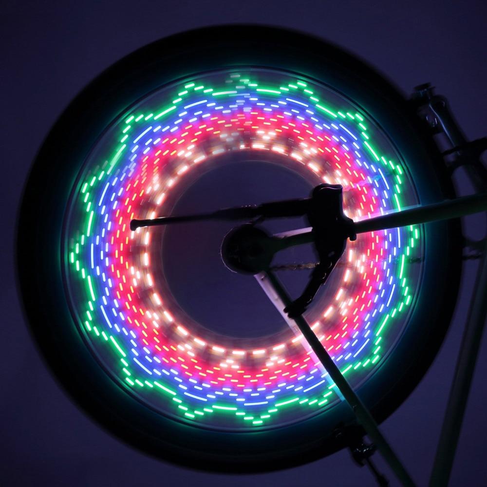 1pc Safety LED 32 Modes Bike Spoke Warning Light Waterproof Bicycle Wheel Tyre Flashing Light Signal Lamp Reflective Rim Rainbow