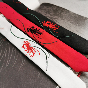 Image 4 - עתיקות סגנון אחר פרח סרט Hanfu רקמת שיער חבל גברים ונשים ניגוב עתיקות תלבושות ציצית שיער אבזרים