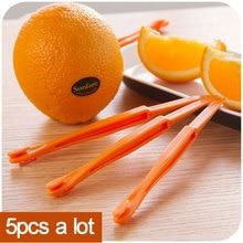 5pcs/vanzlife Kitchen gadgets creative long section Manual orange peeler orange juice compact and practical helper