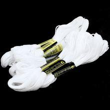12 pçs/set Branco Anchor Cruz Linha do Bordado Floss Novelos de Algodão agulha de Costura Artesanato Bordar ponto Cruz 6 vertentes