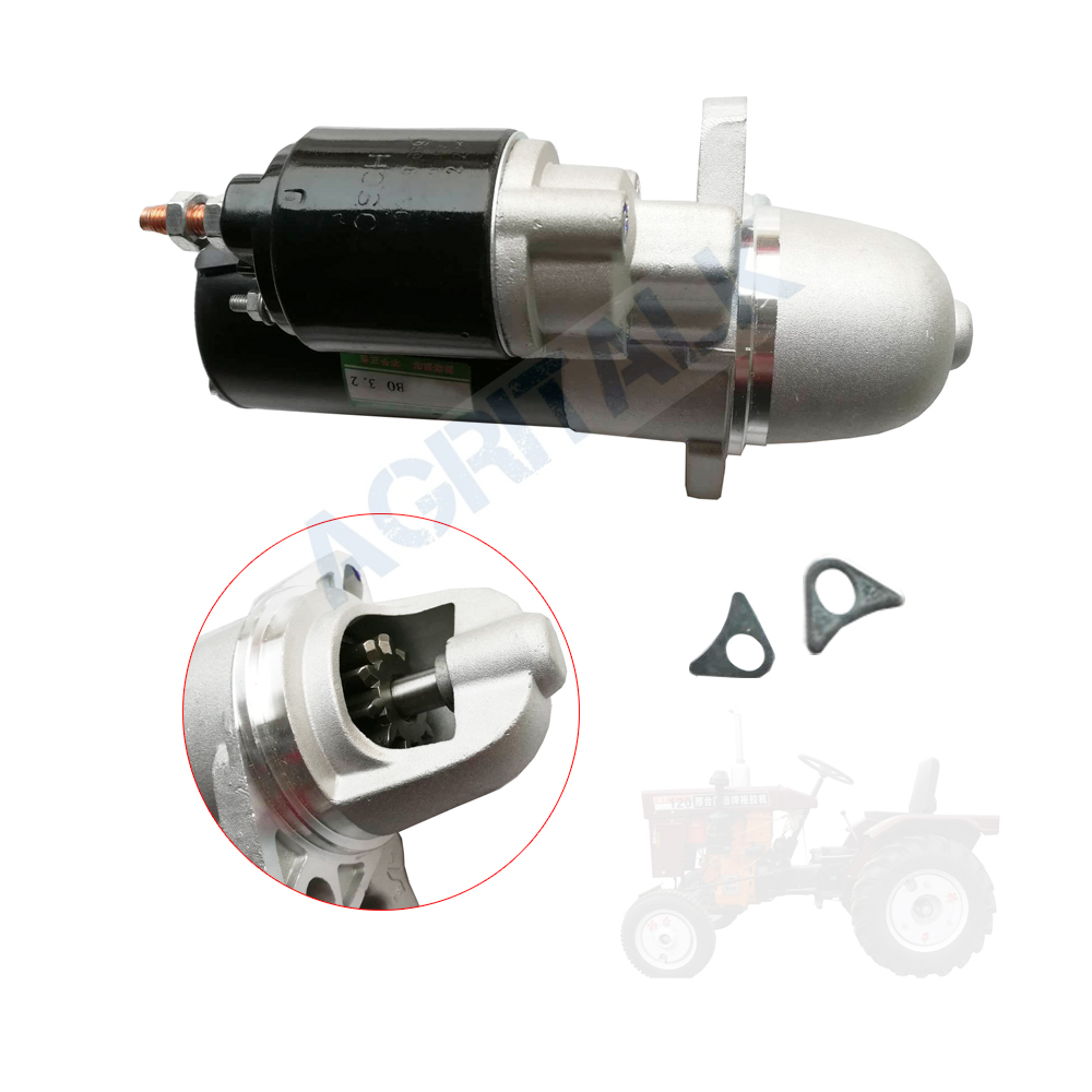 The Starter Motor For Xingtai XT-120 / XT150 Tractor, Part Number: