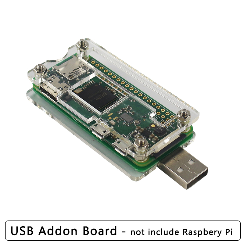 Raspberry Pi Zero W USB Addon Board Expansion Board USB-A Addon Board With Acrylic Case For Raspberry Pi Zero W 1.3