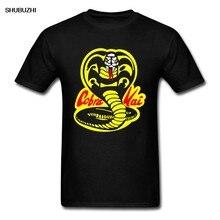 Thai cobra venenosa cobra kai t camisa algodão puro crewneck casual topos & t engraçado camiseta tecido de algodão vestuário de moda