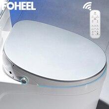 Foheel Nieuwe 5 Kleur Wc Auto Spa Slimme Toiletbril Smart Knop Hd Led Display Toilet Seat Cover Elektronische Bidet wc Deksel