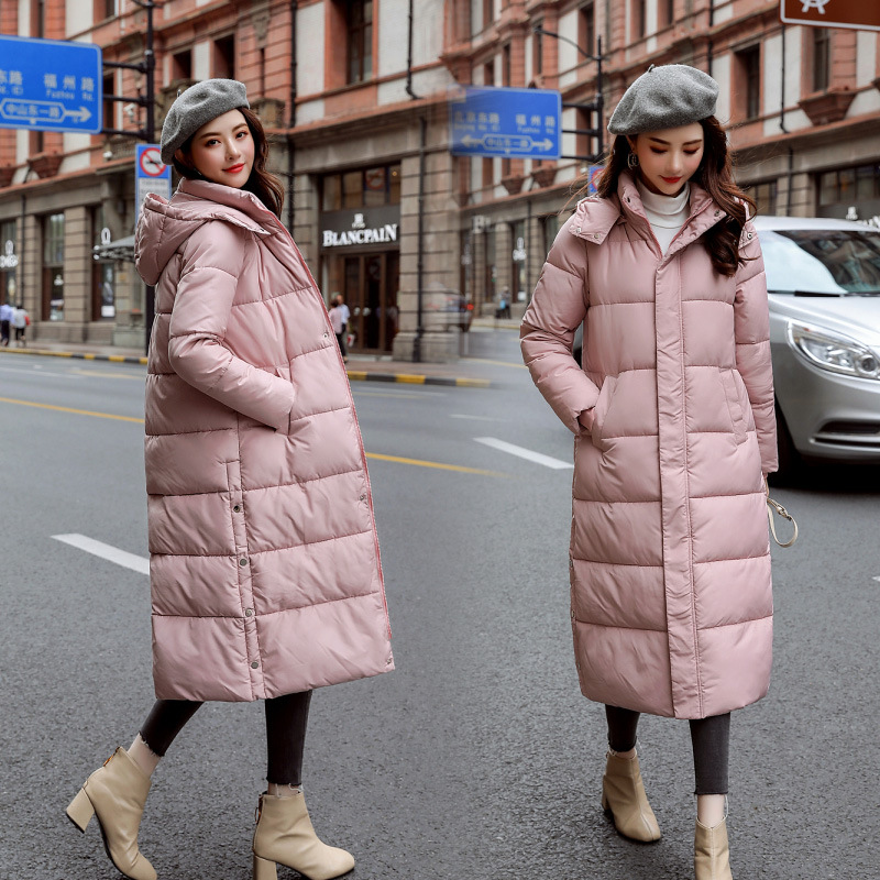 Winter Down Coat Cotton Coat Women's 2019 New Style Korean-style BF Thick Mid-length Cotton-padded Jacket Students Large Fur Col